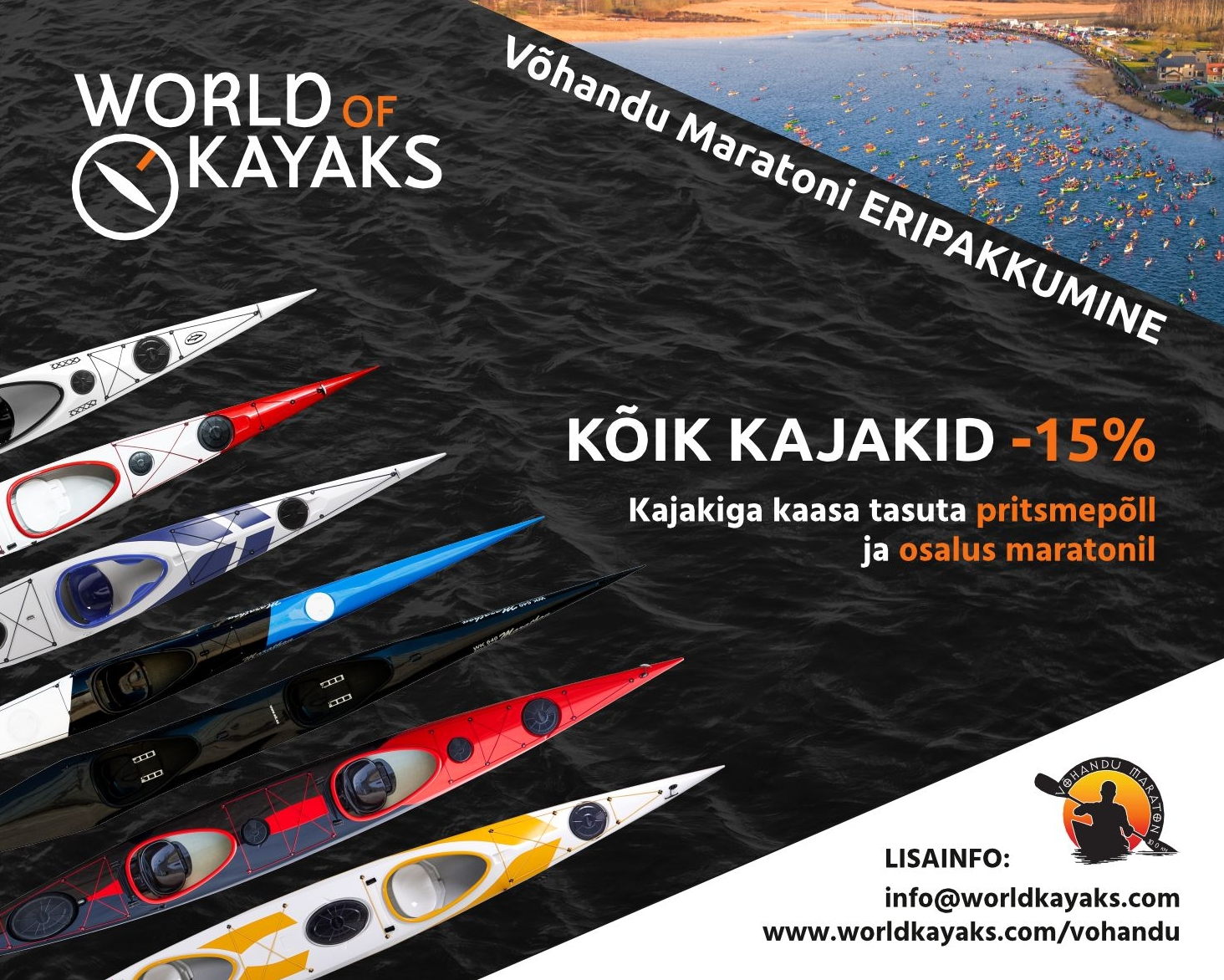 Võhandu maraton ja World of Kayaks